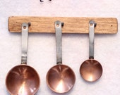 Miniature Wall Hanging Copper Pan Set Hand Made