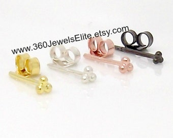 Gauge earring, globular cluster gauge earrings, gauged earring, gauge studs, cartilage stud, helix stud, custom gauge studs, E314 Gauge