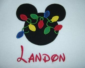 Mickey Mouse Christmas Shirt - Personalized Mickey Mouse Christmas Lights Shirt - MVMCP - Matching Disney Shirts - Disney Family Shirts