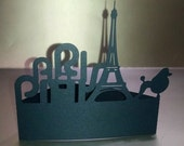 DIY Paris Eiffel tower and poodle stand up