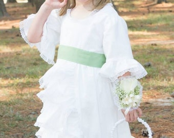 MADE TO ORDER Flower Girl Beachwear Wedding special occasion birthday party first communion dress