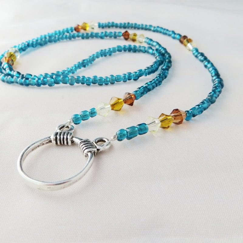 beaded eyeglass holder eyeglass necklace eyeglass chain