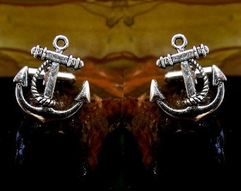 Anchor Cufflinks Sterling Silver Free Domestic Shipping