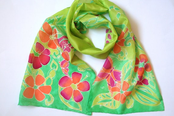 Green Scarf. Fight LYME disease. Spring Scarf. New Life. Spring Green, Perfect Spring Scarf. Gifts for Her.