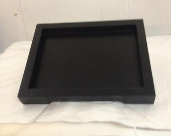 blowout sale  6 black wood trays