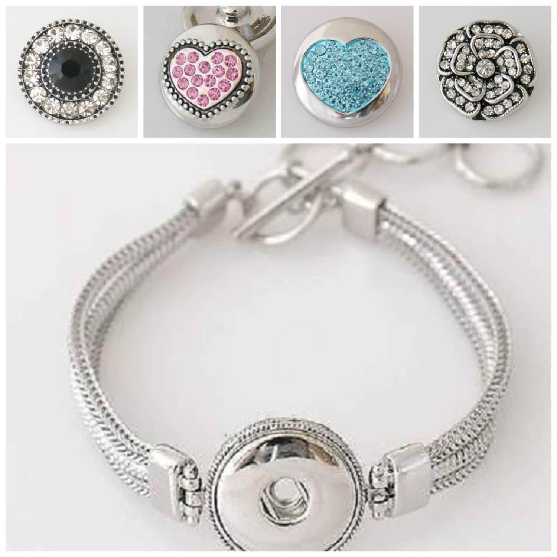 snap bracelet noosa or snaps jewelry by beaditbracelets