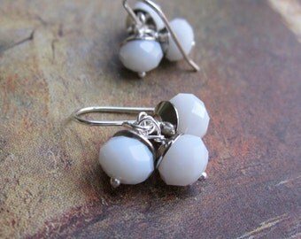 white silver bundle - the corliss earrings