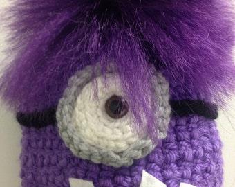 Evil Minion inspired Crochet hat
