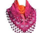 Crochet pattern : fruity shawl