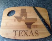 Personalized Cutting Board engraved cutting board Wedding Gift Anniversary Texas
