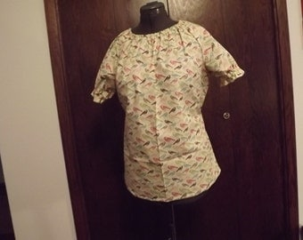 Misses Peasant Blouse, size large 16/18