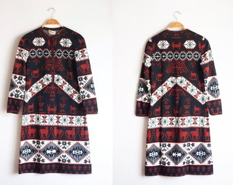 Goldworm Dress Aztec Southwest Tribal
