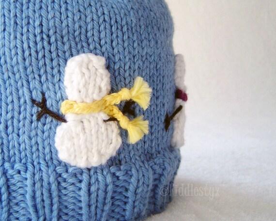 Knitting Pattern Olaf Hat : Hat Knitting Pattern - Snowman Hat Pattern - the OLAF Hat (Newborn, Baby, Tod...