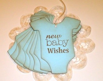 New Baby Boy Wishes  Baby Boy Wish Tree Tags  Baby Boy Shower Tags