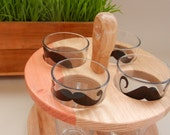 pint glass caddy mustaches