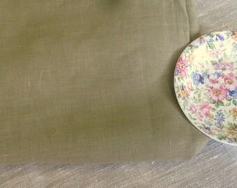 Handkerchief LINEN Oregano GREEN European fabric elegant clothing sewing supplies from MyGypsyCottage on Etsy