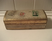 wooden Italian Florentine gold stamp box