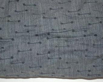 Vintage 1950s cotton atomic print Fabric