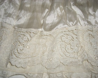 Antique Silk and Lace Slip