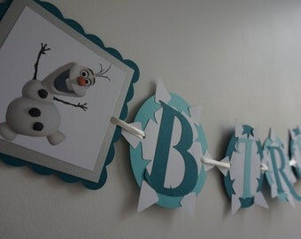 Frozen Olaf Birthday Banner - MADE TO ORDER