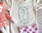 Organic Cotton Toddler Shirt - Screen Printed American Apparel Kids T Shirt - Mermaid - Toddler Tee - Kids Clothes - Handmade You pick size