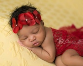 Fabric Lace Wrap Red Newborn Photography Prop Posing Swaddle
