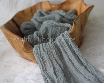 Dark Gray Cheesecloth Baby Wrap Cheese Cloth Newborn Photography
