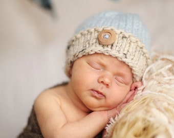 Newborn Baby Boy Hat, Baby Girl Hat, Newborn Knit Hat, Many Color Choices Available For Boys Girls, Newborn Photo Prop