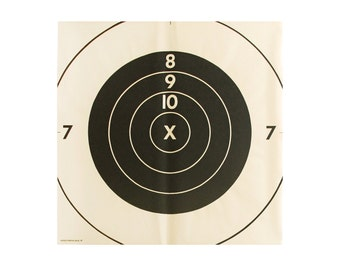 "vintage x-large 33"" bullseye target"