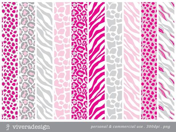 Light pink and white cheetah print - photo#3
