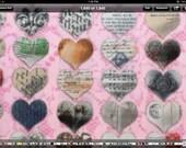 Valentines Day SweetHearts  Reversible TIE ON Dog Bandana choose one