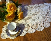 Cream March  doily!