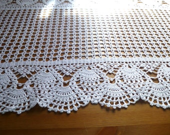 Crochet runner Doily June doily handmade gift anniversary wedding table shower