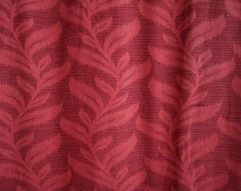 RARE 1920's 30s  Burgundy Botanical Jacquard Curtain Panel