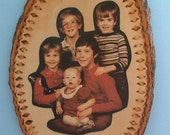 Photo, Photograph, Picture, Digital, On Wood, Wood Burning Your chose Design Around Edge, One of a kind, OOAK, Personalized Wood Photo