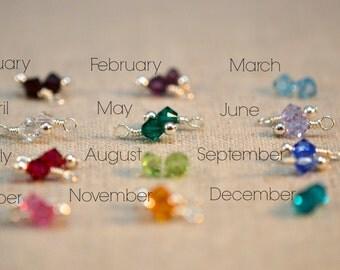 Swarovski Crystal Birthstone Add-On to customize any jewelry piece