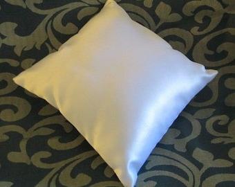 """Ivory Plain Satin Ring Bearer Pillow  (6"""" X 6"""")"""