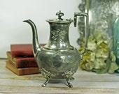 Antique Hotel Silver Plate Teapot  Barclay and Cary Silver 1800s