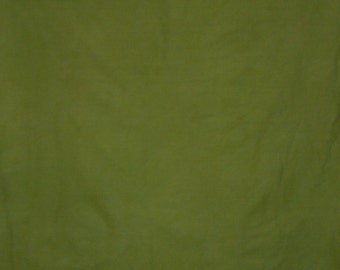 248 - Olive green hand dyed cotton fabric