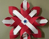 Country Blue Star Fabric Ornament