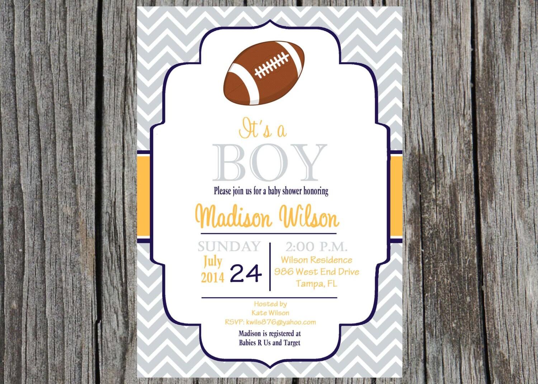 football baby shower invitation football shower baby boy