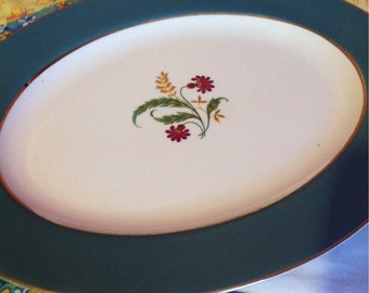 Vintage Homer Laughlin Cavalier Eggshell Platter Made in The USA Berkshire CV15
