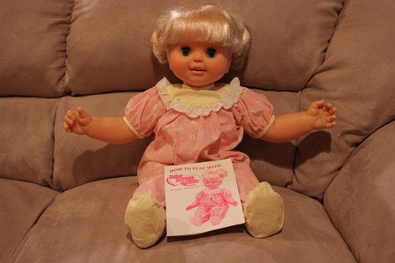 1992 Toy Biz Baby Loves to Talk Doll Reserved for Karen Patterson