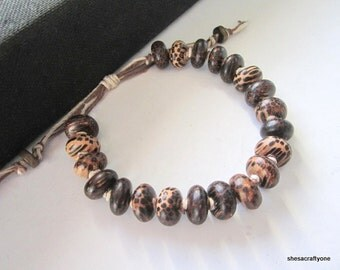 Hemp Bracelet for Men Palm Wood Beaded Bracelet  Adjustable Unisex Bracelet