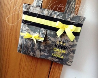 "Army ACU PURSE ""Keep Calm, and Love a Soldier"" Made to order"