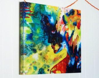 Sweet Willow, 24x30 original giclee print, acrylic painting