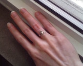 Vintage Sterling Silver Claddagh Ring, Size 4.25