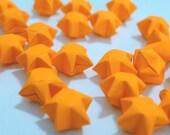 70 Bright Juicy Orange Flourescent Origami Lucky Stars - custom order available