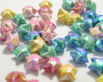 100 Teeny Stripey Part II Pearl Origami Lucky Stars