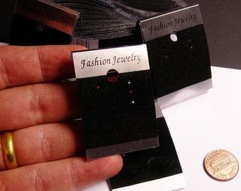 100 pcs silver black velvet  earring display card